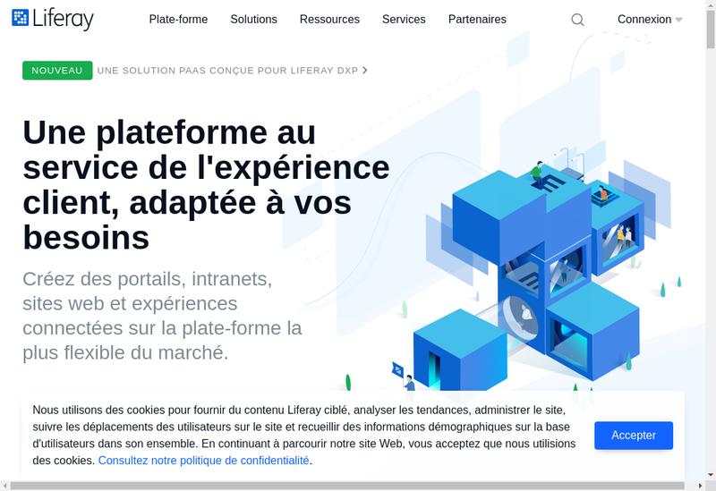 Capture d'écran du site de Liferay France