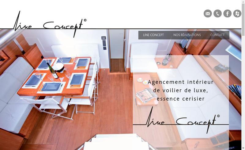 Capture d'écran du site de Line Concept