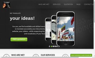 Site internet de Linguaforce Linguaflash