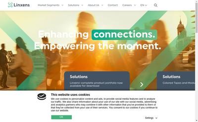 Site internet de Linxens Holding