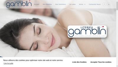 Site internet de Literie Gamblin