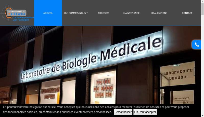 Capture d'écran du site de Litewka