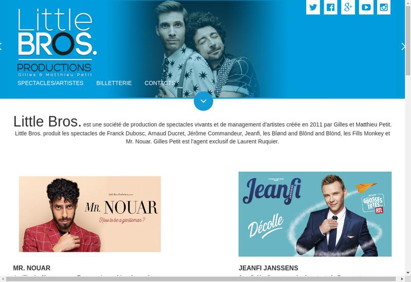 Capture d'écran du site de Little Bros Editions