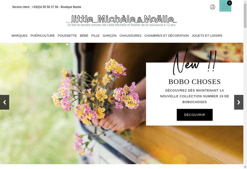 Capture d'écran du site de Little Michele et Noelle