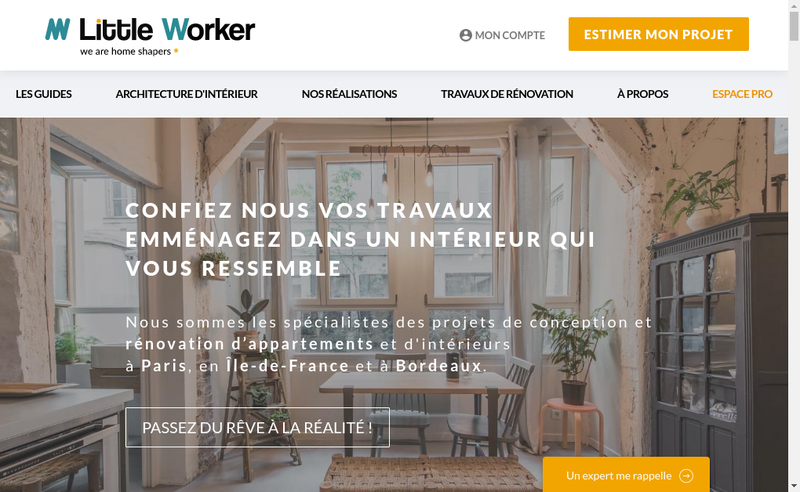 Capture d'écran du site de Little Worker