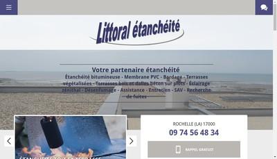 Site internet de Littoral Etancheite