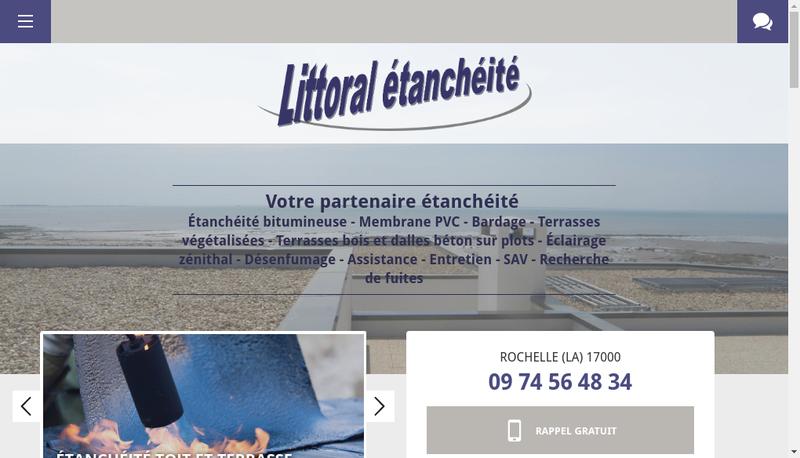 Capture d'écran du site de Littoral Etancheite