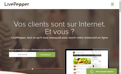 Site internet de Live Pepper