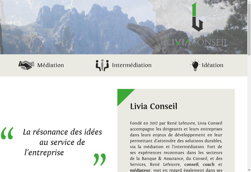 Capture d'écran du site de Livia Conseil