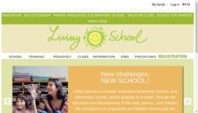 Site internet de Living School