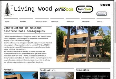 Site internet de Living Wood