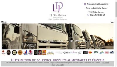 Site internet de Lj Distribution