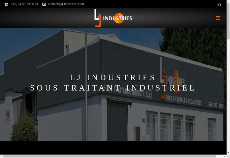 Capture d'écran du site de Lj Industries