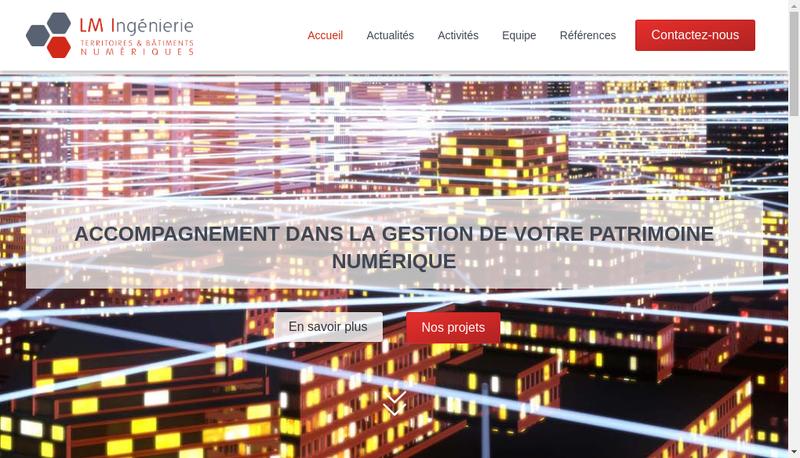 Capture d'écran du site de Lm Ingenierie