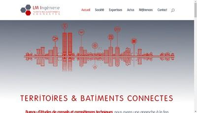 Site internet de Lm Ingenierie
