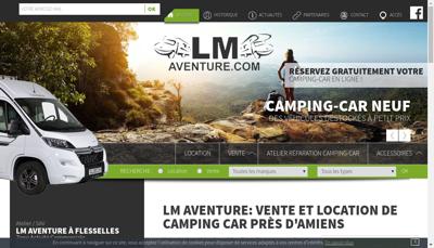 Capture d'écran du site de Lm Aventure