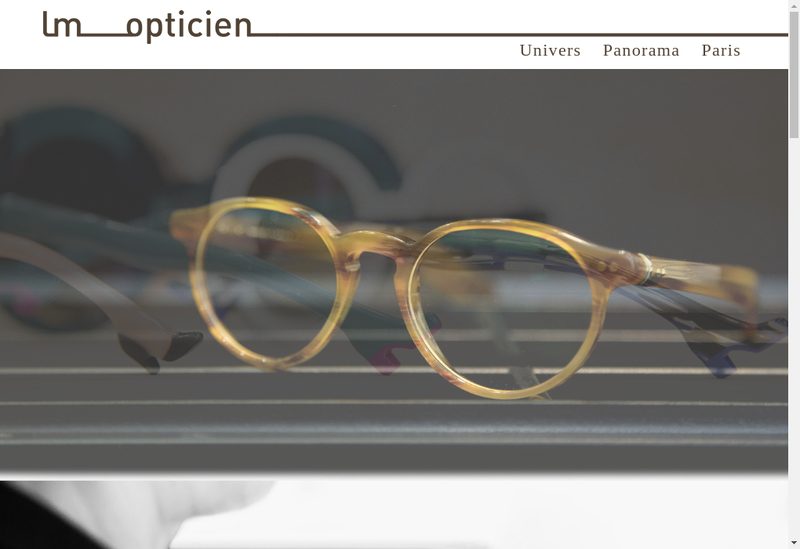 Capture d'écran du site de Lm Opticien