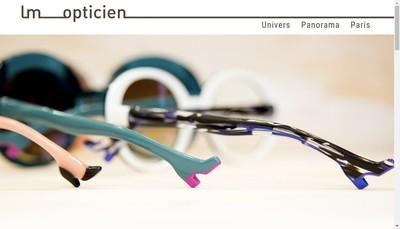 Site internet de Lm Opticien