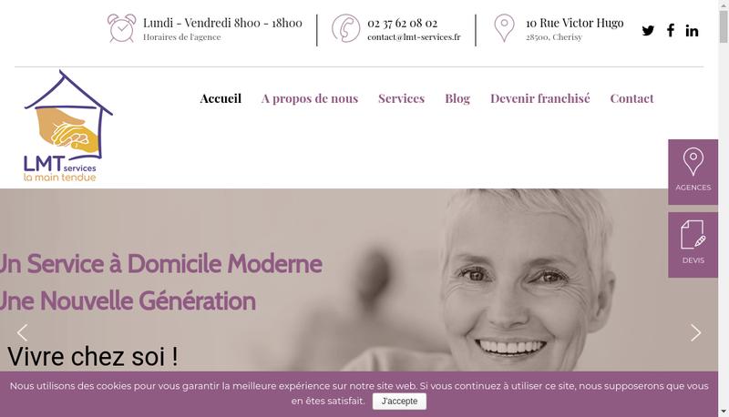 Capture d'écran du site de La Main Tendue