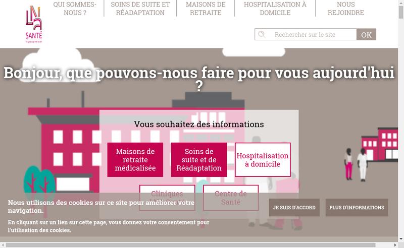 Capture d'écran du site de Les Jardins de Leysotte