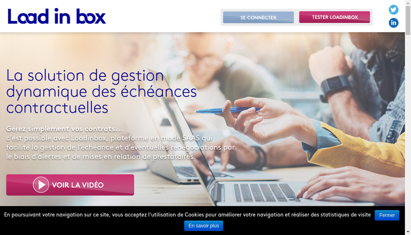 Capture d'écran du site de Loadinbox