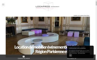 Site internet de Locaprod Evenement