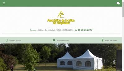 Site internet de Association Location et Gestion des Chapiteaux