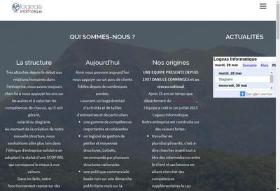 Site internet de Logeas Informatique