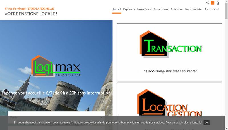 Capture d'écran du site de Logimax