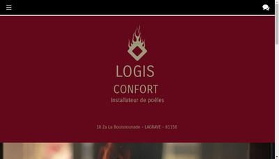 Site internet de Logis Confort Cheminee