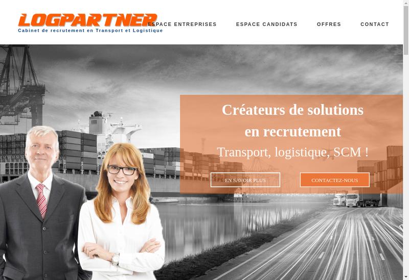 Capture d'écran du site de Logpartner