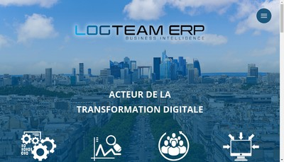 Site internet de Logteam Erp