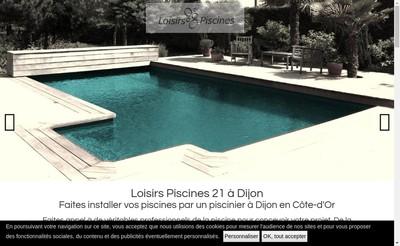 Site internet de Loisirs Piscines 21