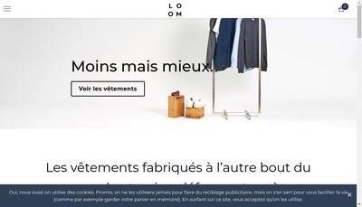 Site internet de Loom
