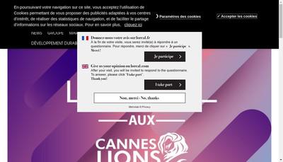 Site internet de L'Oreal Produits de Luxe France