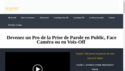 Site internet de Coaching Voix Off (Sigle Cvo)