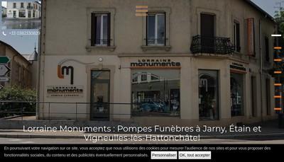 Site internet de Lorraine Monuments