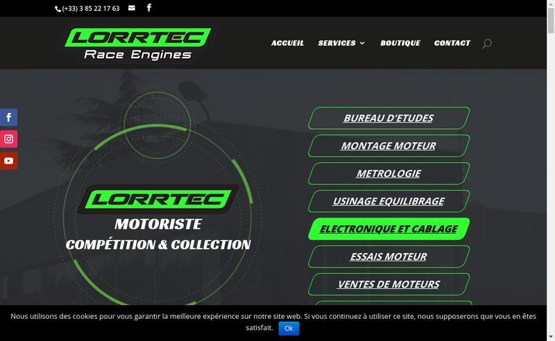 Capture d'écran du site de Lorrtec