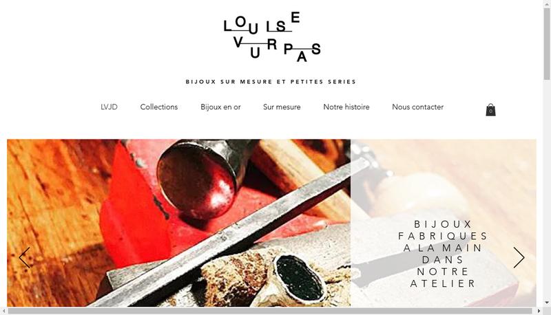 Capture d'écran du site de Louise Vurpas