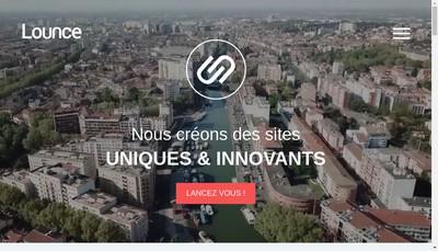 Site internet de Lounce