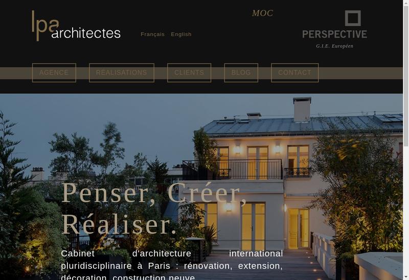 Capture d'écran du site de Lpa Architectes