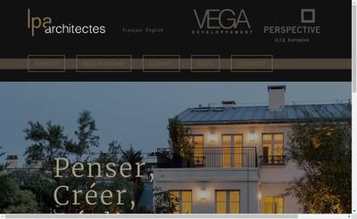 Site internet de Lpa Architectes, Christian Levy, Pierre-Yves Vinceneux