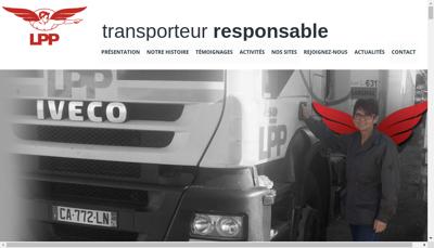 Capture d'écran du site de Perrenot Beton
