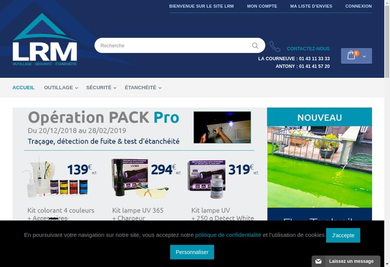 Capture d'écran du site de LRM