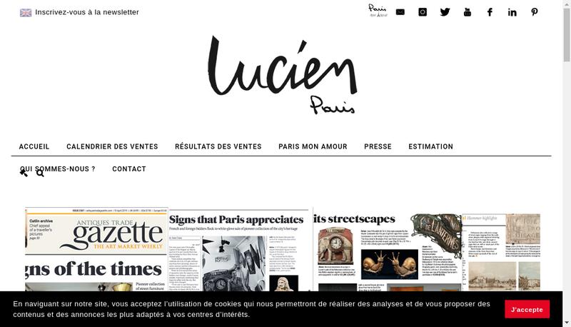 Capture d'écran du site de Lucien Paris