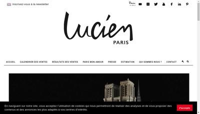 Site internet de Lucien Paris