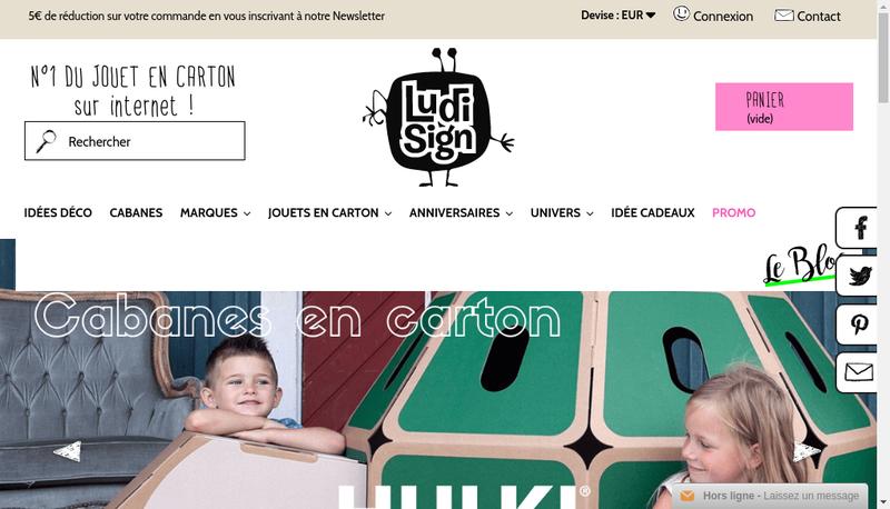 Capture d'écran du site de Ludi-Sign