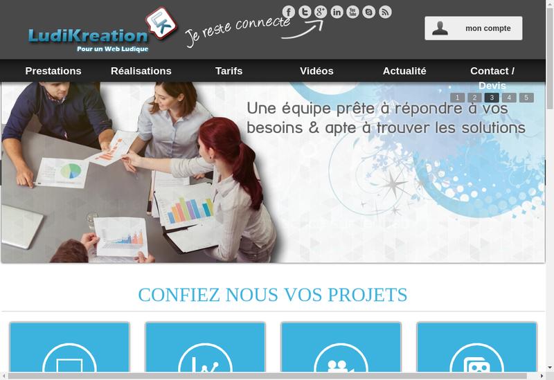 Capture d'écran du site de Ludikreation