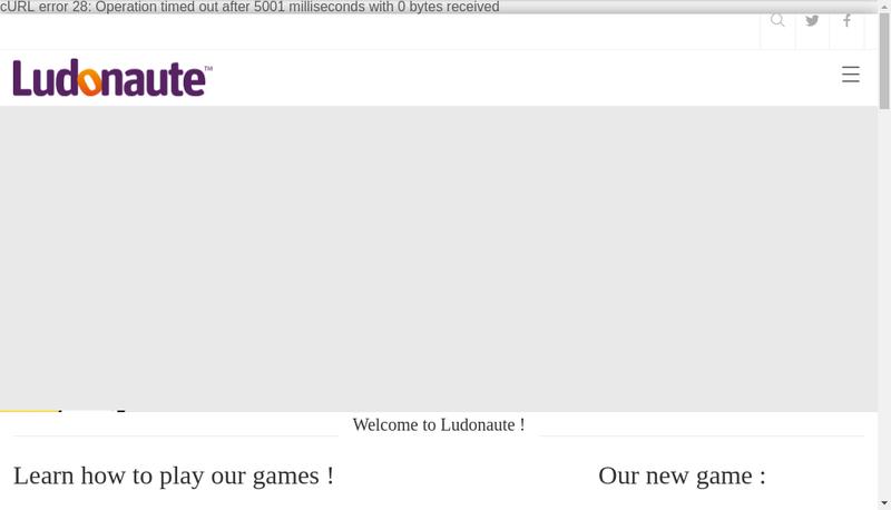 Capture d'écran du site de Ludonaute