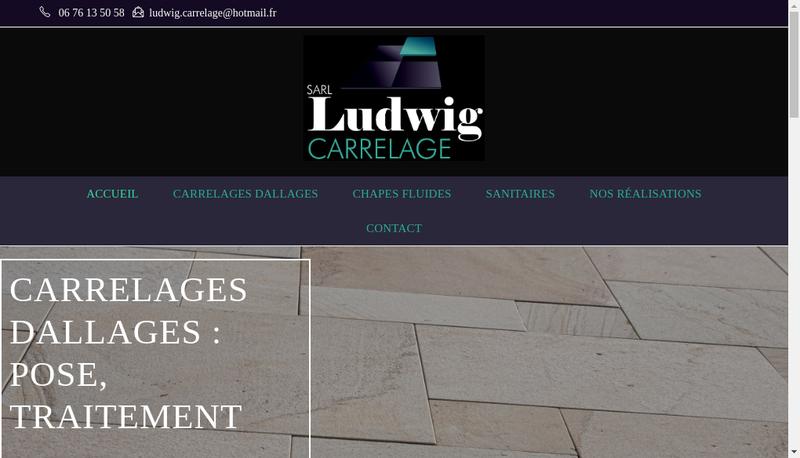 Capture d'écran du site de Ludwig Carrelage